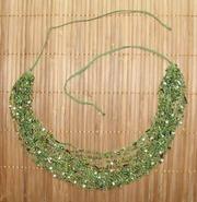 Ожерелья из бисера в ассортименте. Воздушка. Фисташково-зеленые